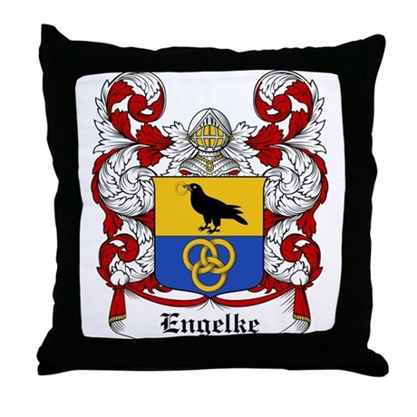 Engelke Coat of Arms Throw Pillow