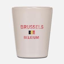 Brussels Belgium Designs Shot Glass