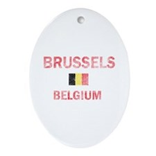 Brussels Belgium Designs Ornament (Oval)