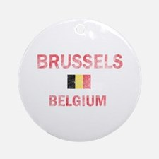 Brussels Belgium Designs Ornament (Round)