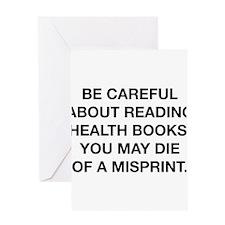 Careful Reading Health Books Greeting Card