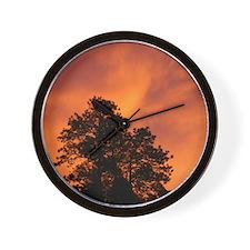 Fire in the Sky Wall Clock