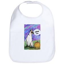 Siamese Halloween Cat Bib