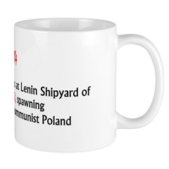 Mug: Lech Walesa led strikes at Lenin Shipyard of