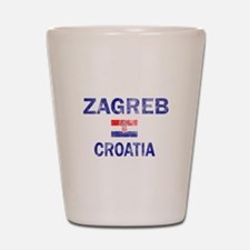 Zagreb Croatia Designs Shot Glass