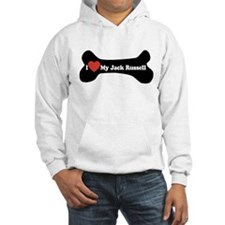 I Love My Jack Russell - Dog Bone Hoodie