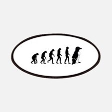 Humans evolve into penguins Patches