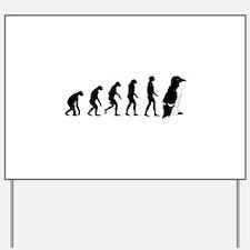 Humans evolve into penguins Yard Sign