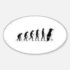 Humans evolve into penguins Sticker (Oval)
