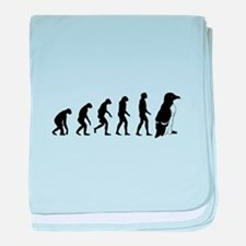 Humans evolve into penguins baby blanket