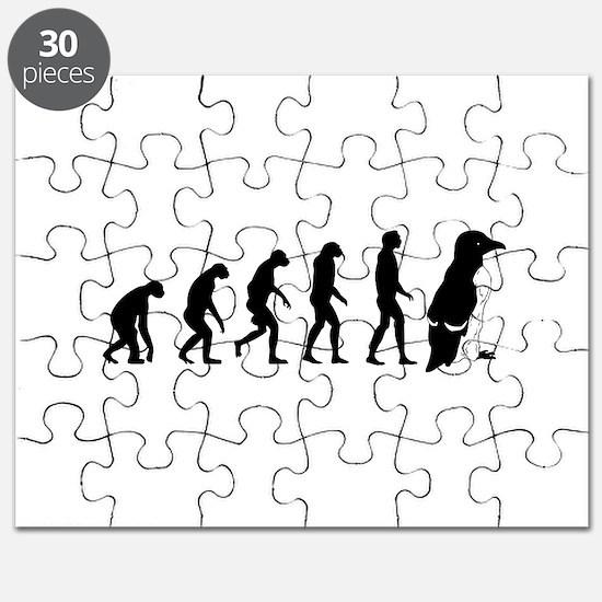 Humans evolve into penguins Puzzle