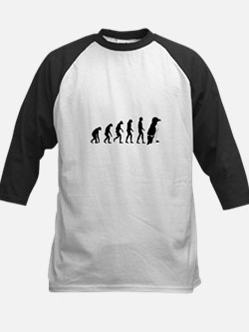 Humans evolve into penguins Kids Baseball Jersey