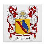 Dzienciol Coat of Arms Tile Coaster