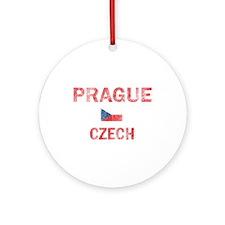 Prague Czech Designs Ornament (Round)