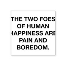 """Foes Of Happiness Square Sticker 3"""" x 3"""""""