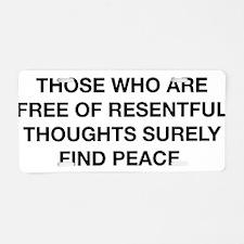 Find Peace Aluminum License Plate