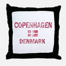 Copenhagen Denmark Designs Throw Pillow