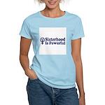 SISTERHOOD IS POWERFUL Women's Pink T-Shirt