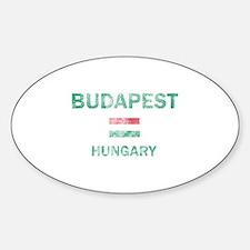 Budapest Hungary Designs Sticker (Oval)