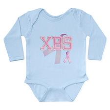 XBS initials, Pink Ribbon, Long Sleeve Infant Body