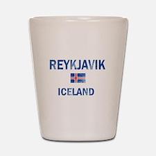 Reykjavik Iceland Designs Shot Glass