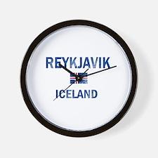 Reykjavik Iceland Designs Wall Clock