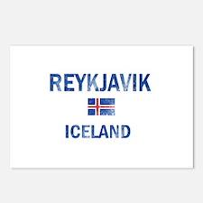 Reykjavik Iceland Designs Postcards (Package of 8)