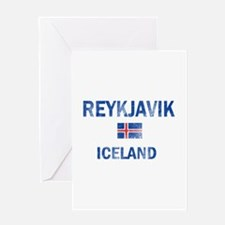 Reykjavik Iceland Designs Greeting Card
