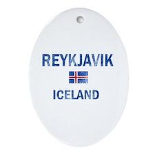 Reykjavik Iceland Designs Ornament (Oval)