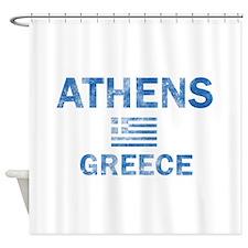 Athens Greece Designs Shower Curtain