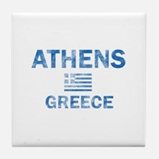 Athens Greece Designs Tile Coaster