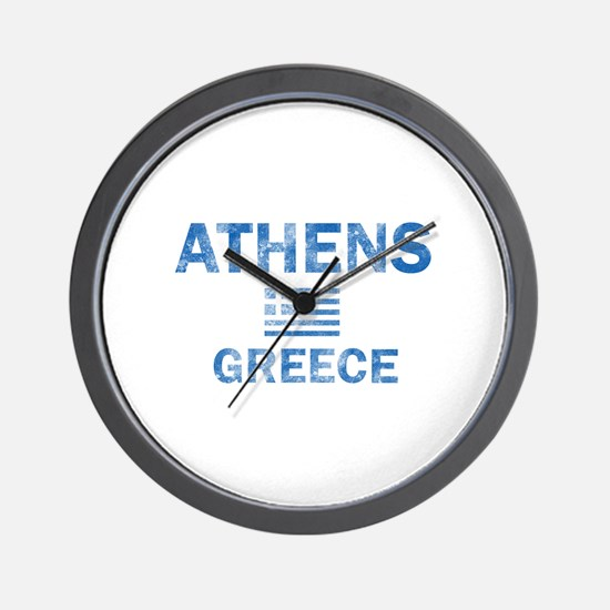 Athens Greece Designs Wall Clock
