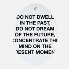 Do Not Dwell In The Past Ornament (Oval)