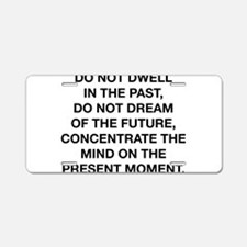 Do Not Dwell In The Past Aluminum License Plate