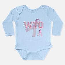 WTD initials, Pink Ribbon, Long Sleeve Infant Body