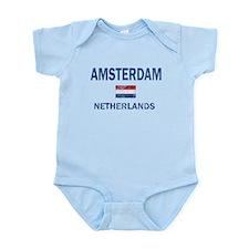 Amsterdam Netherlands Designs Infant Bodysuit
