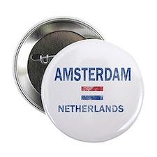 """Amsterdam Netherlands Designs 2.25"""" Button"""