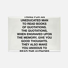 Books Of Quotations Rectangle Magnet
