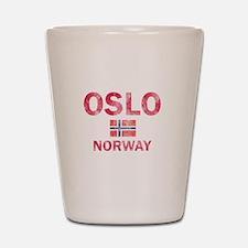 Oslo Norway Designs Shot Glass