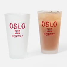 Oslo Norway Designs Drinking Glass