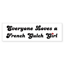 French Gulch girl Bumper Bumper Sticker
