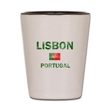 Lisbon Portugal Designs Shot Glass