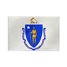 Massachusetts State Flag Rectangle Magnet