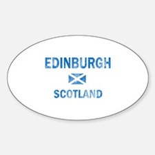 Edinburgh Scotland Designs Sticker (Oval)