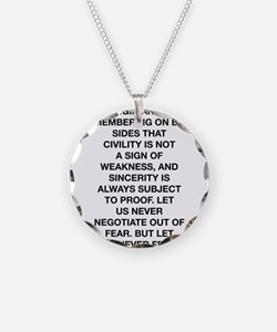 So Let Us Begin Anew Necklace