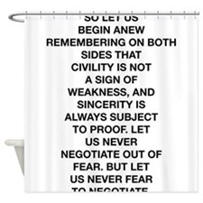 So Let Us Begin Anew Shower Curtain