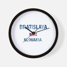 Bratislava Slovakia Designs Wall Clock