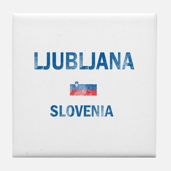 Ljubljana Slovenia Designs Tile Coaster