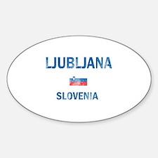 Ljubljana Slovenia Designs Decal