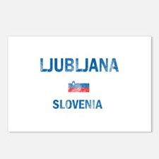 Ljubljana Slovenia Designs Postcards (Package of 8